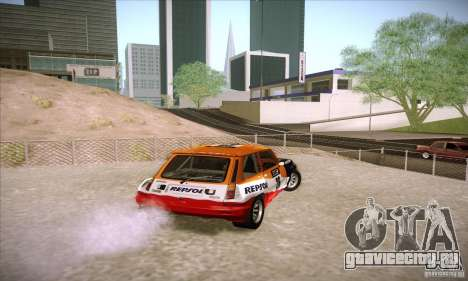 Renault 5 GT Turbo Rally для GTA San Andreas вид сзади слева
