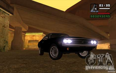 Dodge Challenger 1971 для GTA San Andreas вид сзади