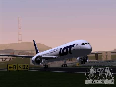Boeing 787-9 LOT Polish Airlines для GTA San Andreas вид сзади