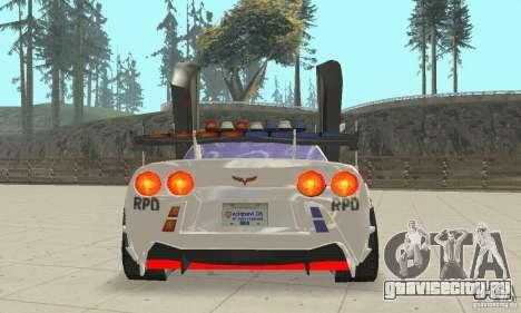 Chevrolet Corvette C6 Police Сержант Кросс NFSMW для GTA San Andreas вид изнутри