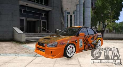 Subaru Impreza WRX STi GDB Team Orange для GTA 4