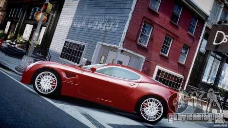 Alfa Romeo 8C Competizione для GTA 4 вид слева