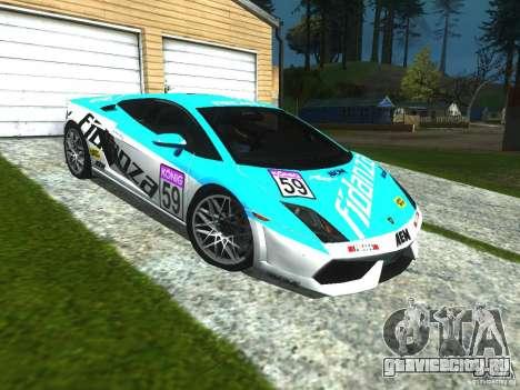 Lamborghini Gallardo LP560-4 для GTA San Andreas вид изнутри