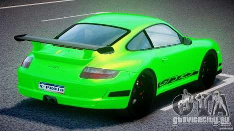 Porsche 997 GT3 RS для GTA 4 вид сверху