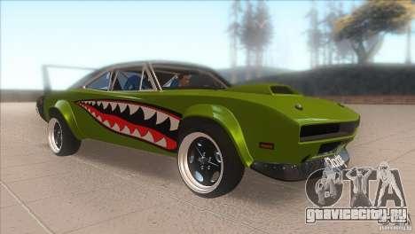 Dodge Charger RT SharkWide для GTA San Andreas вид сзади