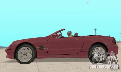Mercedes-Benz SL500 (R230) для GTA San Andreas вид сзади слева