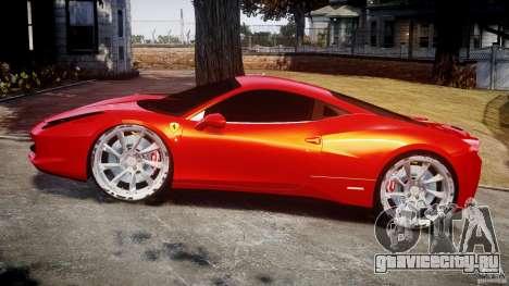 Ferrari 458 Italia Dub Edition для GTA 4 вид изнутри