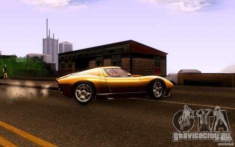 Lamborghini Miura Concept для GTA San Andreas вид справа