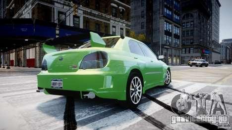Subaru Impreza STI Wide Body для GTA 4 вид сверху