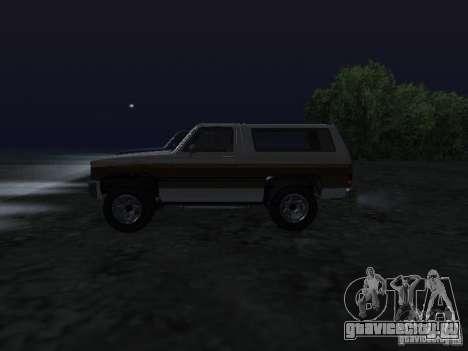 Rancher из GTA 4 для GTA San Andreas вид слева