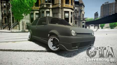 Volkswagen Golf 2 Low is a Life Style для GTA 4 вид сзади слева
