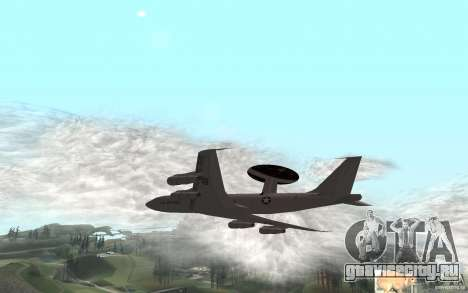 Boeing E-3 Sentry для GTA San Andreas вид сзади слева