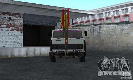 MAZ Автокран для GTA San Andreas вид справа