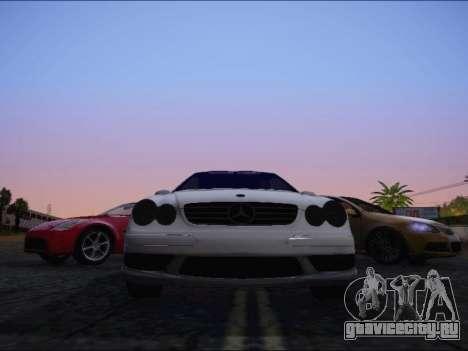 Mercedes-Benz CLK для GTA San Andreas вид сзади