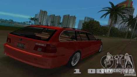 BMW 5S Touring E39 для GTA Vice City вид сзади
