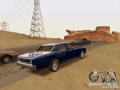 Chevrolet Chevelle для GTA San Andreas вид сзади