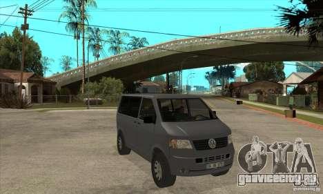 Volkswagen Transporter T5 TDI для GTA San Andreas вид сзади