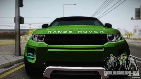 Land Rover Range Rover Evoque v1.0 2012 для GTA San Andreas вид справа