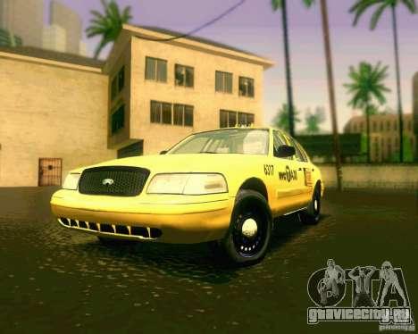 Ford Crown Victoria 2003 NYC TAXI для GTA San Andreas вид слева