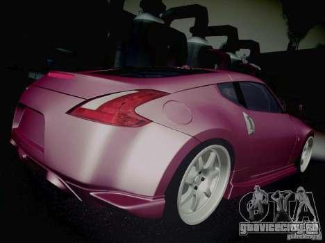 Nissan 370Z Fatlace для GTA San Andreas вид сверху