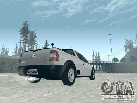 Volkswagen Saveiro 1.6 2009 для GTA San Andreas вид слева