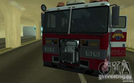 FIRETRUCK для GTA San Andreas вид сзади