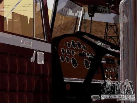 Peterbilt 359 Custom для GTA San Andreas вид изнутри