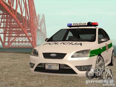 Ford Focus ST Policija для GTA San Andreas вид сзади