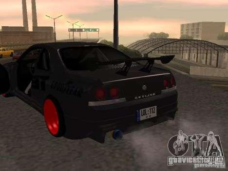 Nissan Skyline R33 для GTA San Andreas вид сбоку