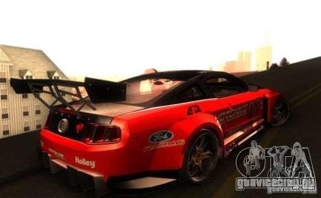 Ford Mustang Shelby GT500 V1.0 для GTA San Andreas вид изнутри