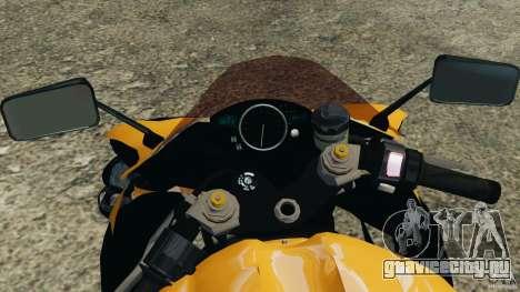 Yamaha YZF-R1 2012 для GTA 4 вид сзади