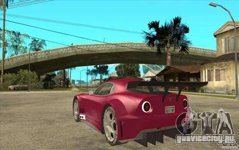 Alfa Romeo 8C GT3 RSX для GTA San Andreas вид сзади слева
