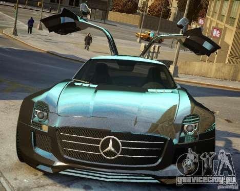 Mercedes SLS Extreme для GTA 4 вид изнутри