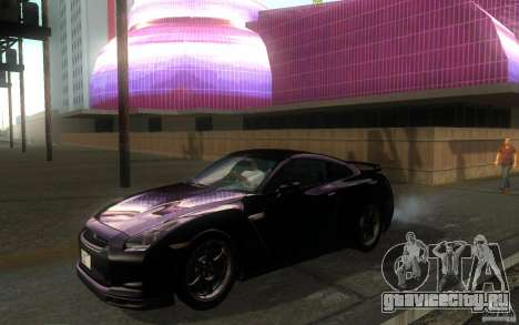 Nissan GTR R35 Spec-V 2010 для GTA San Andreas вид слева