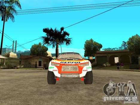 Mitsubishi Racing Lancer from DIRT 2 для GTA San Andreas вид справа