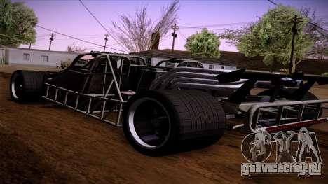 Flip Car из Furious 6 для GTA San Andreas вид слева