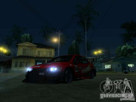 Mitsubishi Lancer Evo9 Wide Body 2 для GTA San Andreas