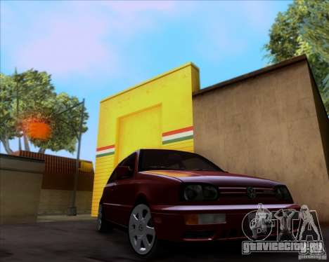 Volkswagen Golf MK3 VR6 для GTA San Andreas вид сзади