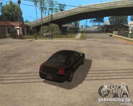 Dodge Charger для GTA San Andreas вид справа