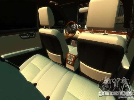 Mercedes-Benz W221 S500 для GTA 4 вид изнутри