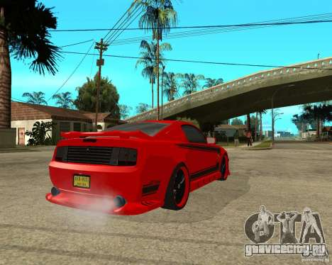 Ford Mustang Red Mist Mobile для GTA San Andreas вид сзади слева
