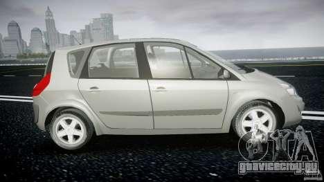 Renault Scenic II Phase 2 для GTA 4 вид сзади