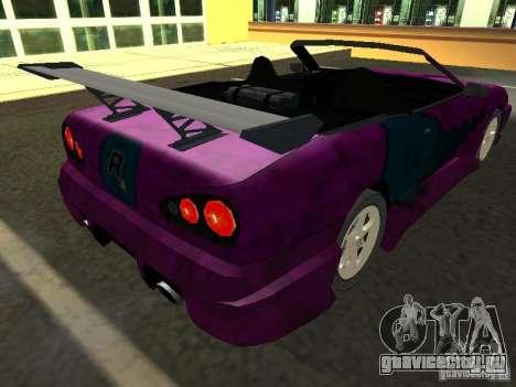 Elegy Кабрио для GTA San Andreas салон