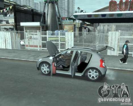 Renault Sandero v2.0 для GTA 4 вид сзади