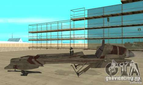 Star Wars speedbike для GTA San Andreas вид слева