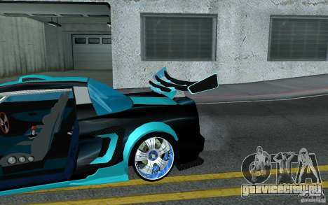 Baby blue Infernus для GTA San Andreas вид сверху
