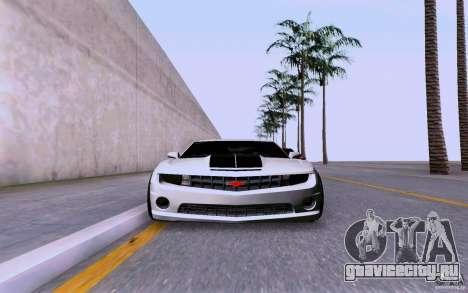 Chevrolet Camaro Super Sport 2012 для GTA San Andreas вид сзади слева