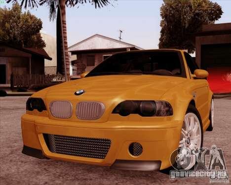 BMW M3 E46 stock для GTA San Andreas вид изнутри