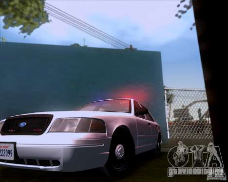 Ford Crown Victoria 2009 Detective для GTA San Andreas вид сзади