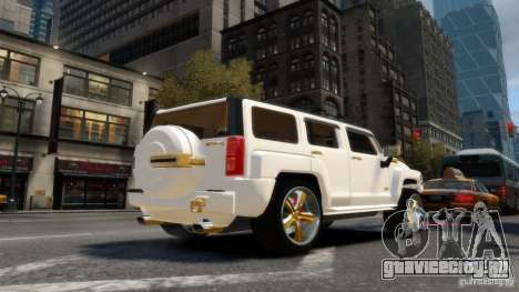 Hummer H3 2005 Gold Final для GTA 4 вид сзади слева